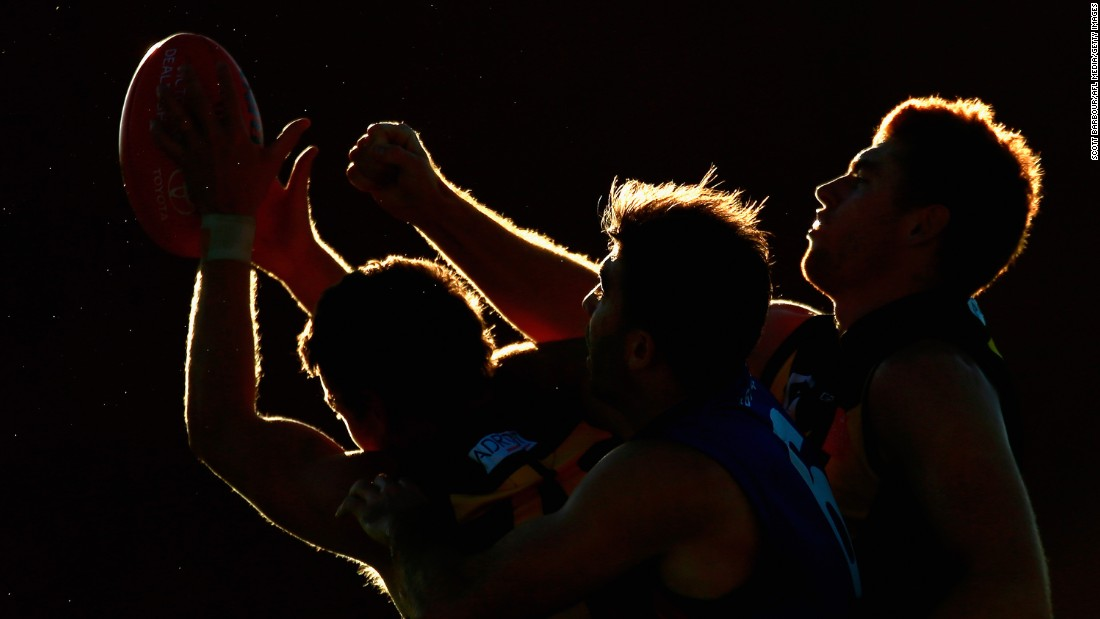The Werribee Tigers plays Port Melbourne during an Australian rules football match on Saturday, May 2, in Melbourne.