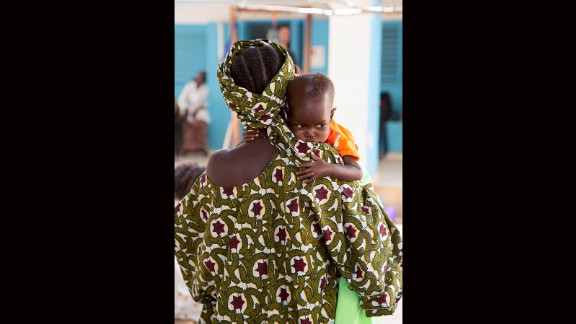 176. Mali suffers from political instability and a host of other issues. Fatoumata, 10 months old, is shown arriving at the Save the Children-supported intensive unit for severe acute malnutrition in Mopti.
