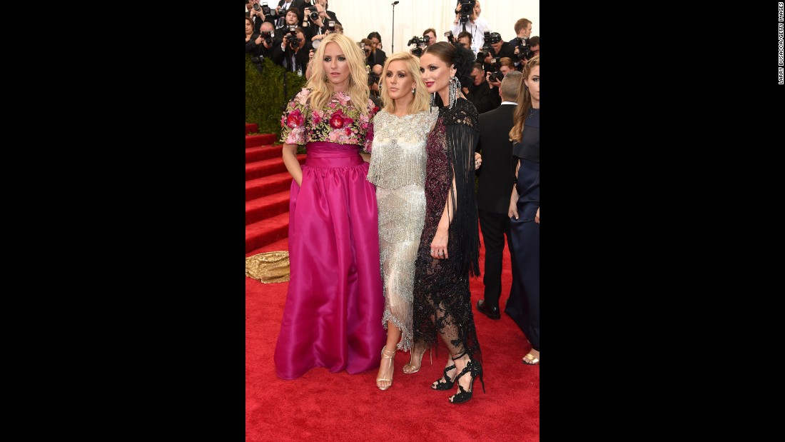 From left: Keren Craig, Ellie Goulding and Georgina Chapman
