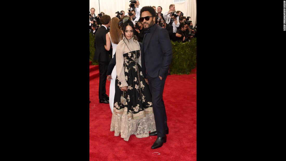Lisa Bonet and Lenny Kravitz