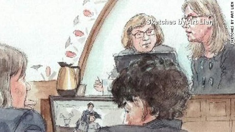 Tsarnaev cries in court as relative testifies