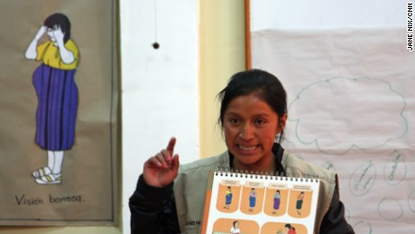 "Juanita Tzunún helps educate and empower indigenous women to become volunteer ""health promoters"" in their communities."