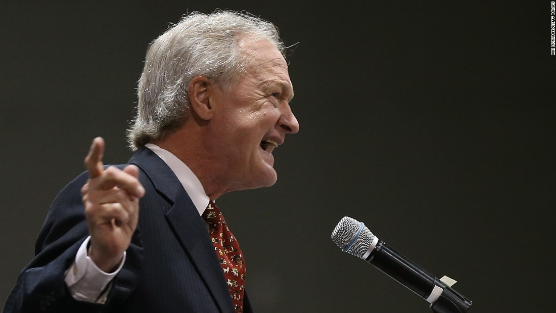 Lincoln Chafee, a former U.S. senator and governor of Rhode Island, was a Republican turned independent. On June 3, 2015 he officially announced he's running to become the next president as a Democrat.