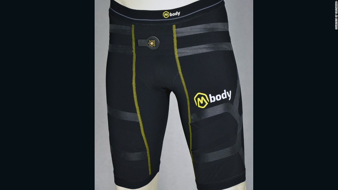 The Mbody EMG (electro-myography) Shorts -- by Myontec -- measure muscle activity in top -evel athletes. The shorts combine with a transmitter unit and a tablet app to give coaches the opportunity to fine-tune an athlete's performance.