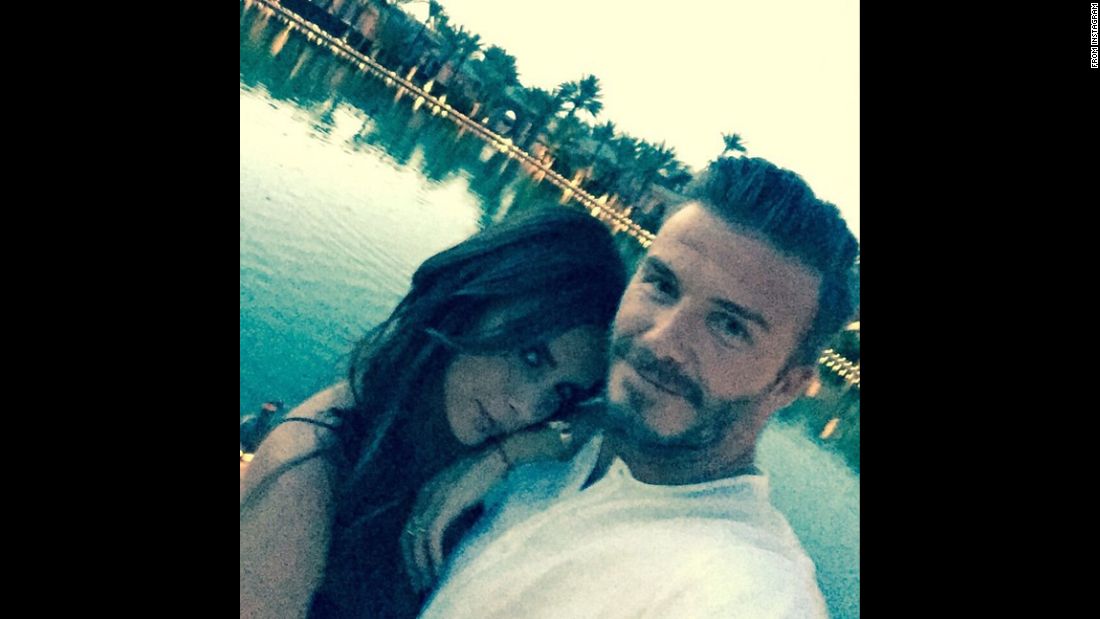"Soccer star David Beckham <a href=""https://instagram.com/p/2MbkEpzWVc/"" target=""_blank"">posted a selfie</a> on his birthday, thanking his wife for an amazing day on Saturday, May 2. The former player turned 40."