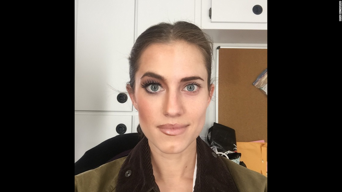 """Took half my makeup off,"" ""Girls"" co-star<a href=""https://instagram.com/p/2JqXIeGU0n/"" target=""_blank""> Allison Williams said</a> on Friday, May 1. ""Guess why Marnie might have this insane look? #90sLips #Season5."" referring to her character on the HBO series ""Girls."""