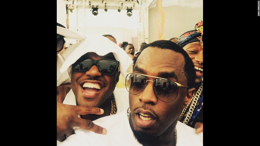 """I TOLD YALL WE'D STILL BE ON TOP!"" Rapper Sean ""Diddy"" Combs<a href=""https://instagram.com/p/2M5TCRpl5K/"" target=""_blank""> posted to Instagram </a>on Saturday, May 2, before the Mayweather vs. Pacquiao fight. He hosted a pool party where he performed with fellow rappers Mase, left, and Lil Wayne, unpictured."