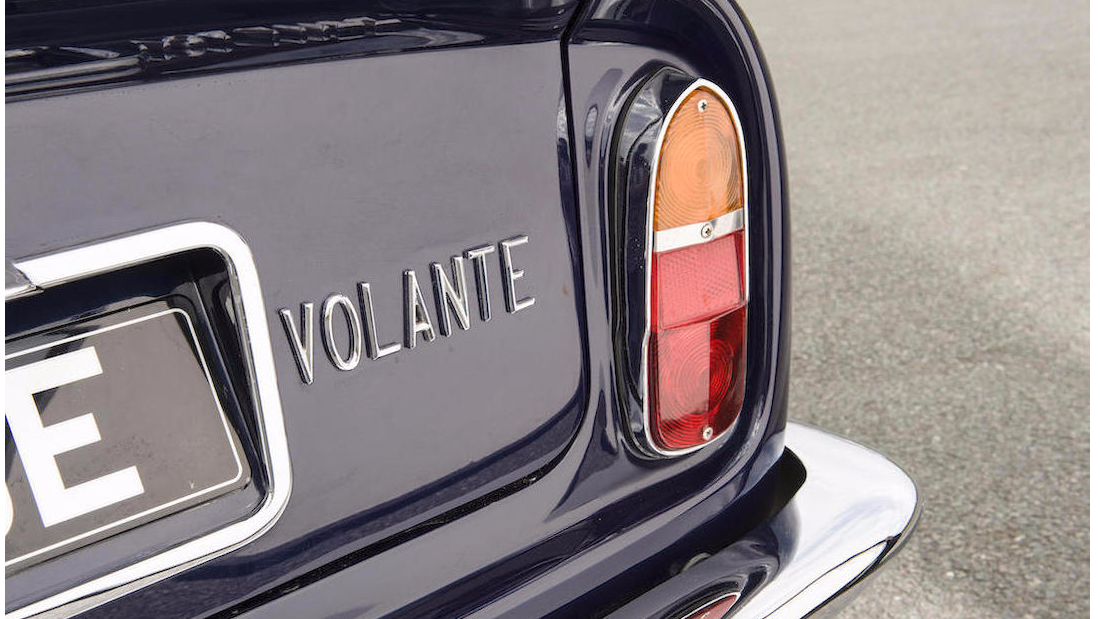 "This is the first ever ""Volante"" Aston, the name that identifies the convertible Astons since 1965. (It means ""flying"" in Italian.)"