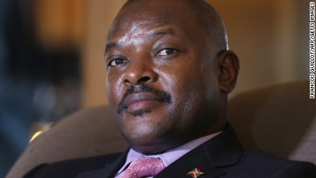 Burundian President Pierre Nkurunziza was elected in July to a third term many view as unconstitutional.