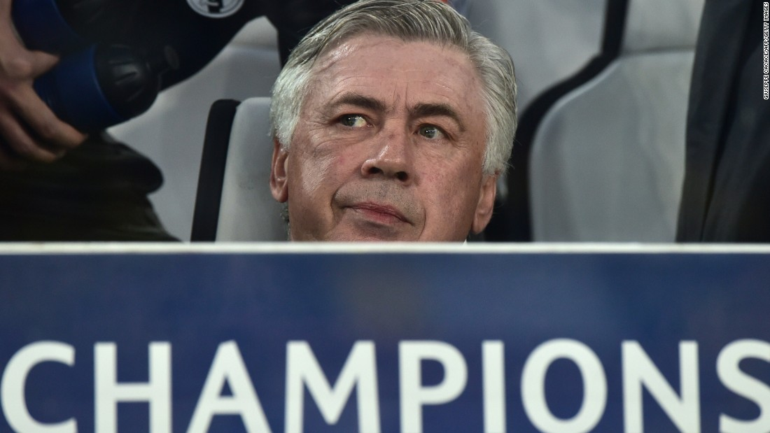 Carlo Ancelotti, the Real Madrid manager, watched on as his side began to create chances. Rodriguez should have scored before the interval but somehow sent his header against the crossbar from close range.