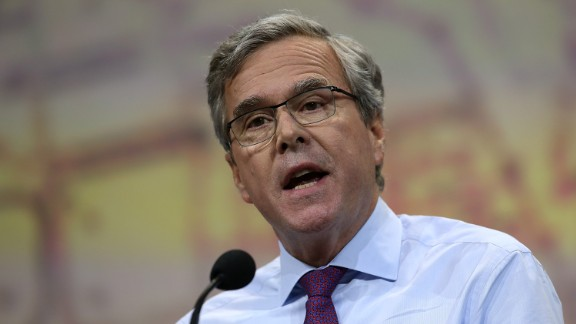 Former Florida Gov. Jeb Bush speaks during the NRA-ILA Leadership Forum at the 2015 NRA Annual Meeting & Exhibits on April 10, 2015 in Nashville, Tennessee. The annual NRA meeting and exhibit runs through Sunday.