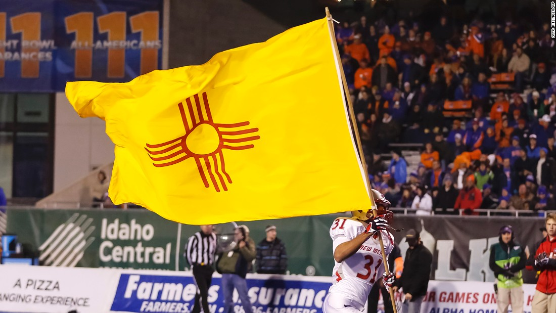 "<strong>The Best</strong> -- 1. New Mexico<br />""Red and yellow recall the state's Spanish heritage, while the sun symbol comes from the Zia Indians. This distinctive flag appears on the state's license plates and flies widely across the state,"" -- Ted Kaye, author of ""Good Flag, Bad Flag"""