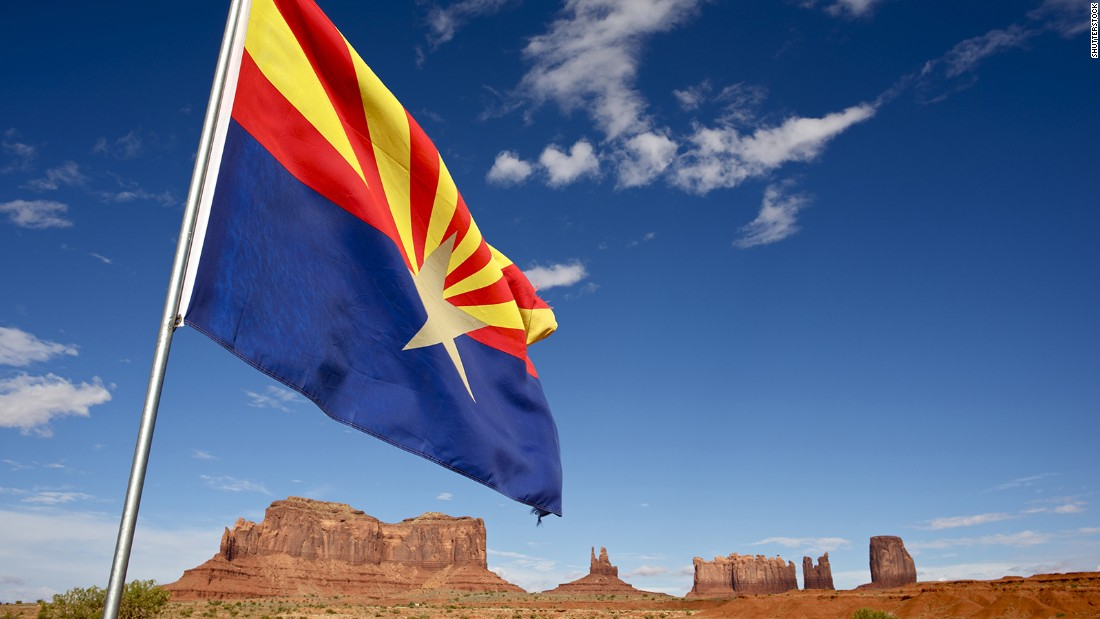 "<strong>The Best</strong> -- 5. Arizona<br />""The yellow and red rays number 13; their color evokes the state's Spanish heritage. The blue and red match Old Glory's colors and the copper star highlights the state's position as the largest producer of copper in the country."" -- Ted Kaye, author of ""Good Flag, Bad Flag"""