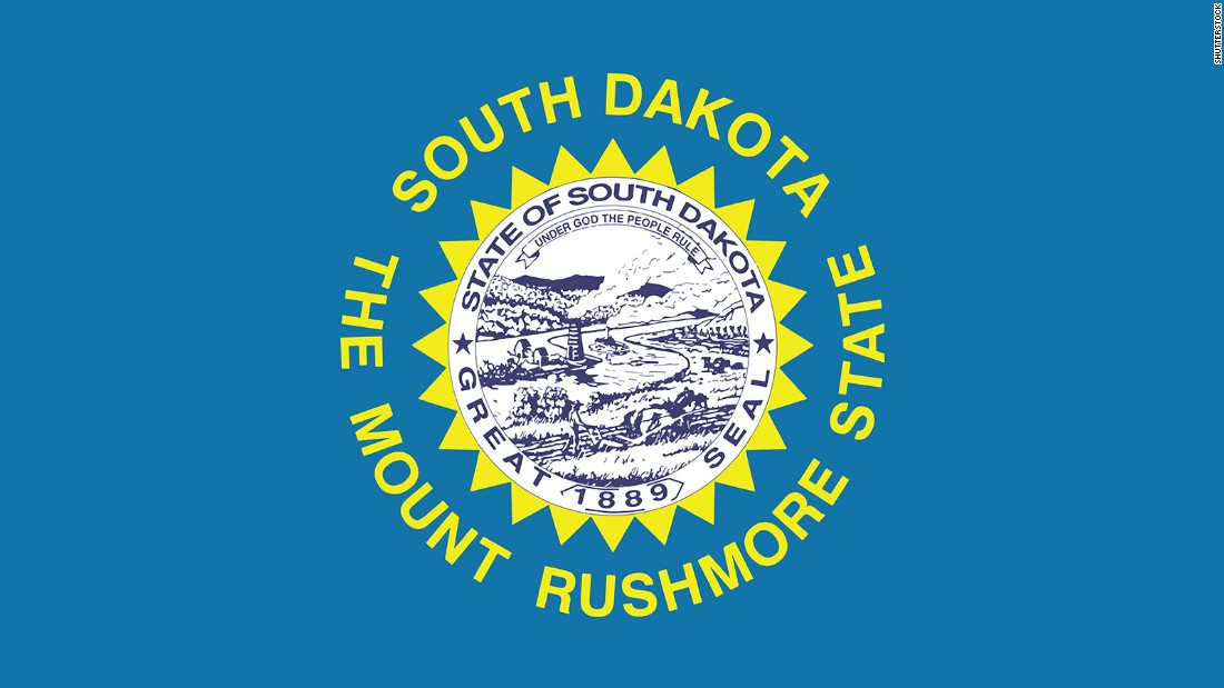 "<strong>The Worst</strong> -- 47. South Dakota<br />""This flag breaks the rule with a seal AND lettering.  The name of the state actually appears twice!"" -- Ted Kaye, author of ""Good Flag, Bad Flag"""
