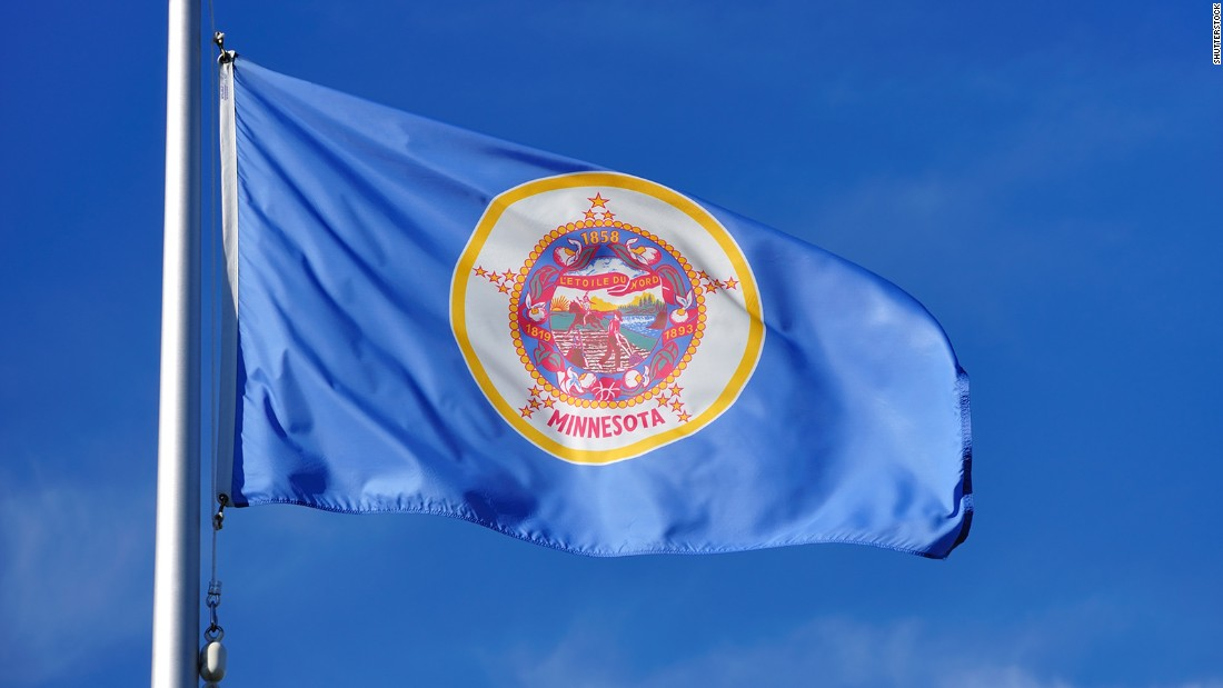 "<strong>The Worst </strong>-- 46. Minnesota<br />""While the state's 'North Star' is hiding in the design, the detail of the multicolored seal is unrecognizable at a distance."" -- Ted Kaye, author of ""Good Flag, Bad Flag"""