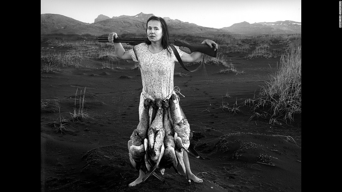 "Sosnowska described this scene, of her with a string of dead geese around her body, as ""closest to her spirit."""