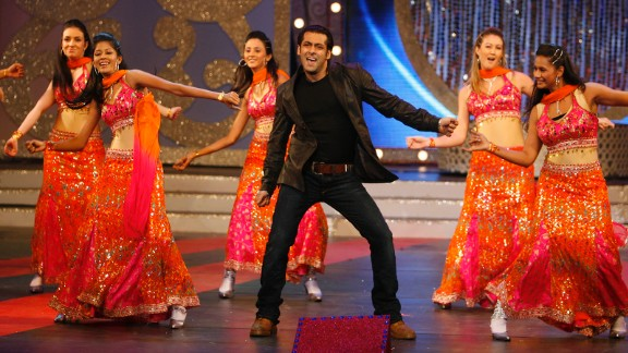Salman Khan, center, is one of Bollywood's biggest box office draws. In May 2015, he was found guilty of a fatal hit and run that occurred in 2002. Here he performs during an awards ceremony in Mumbai, India, in 2008.