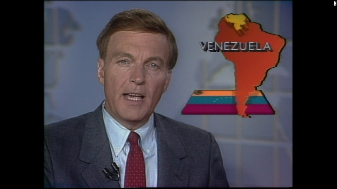 Ralph Wenge reports on international news in 1989. CNN International launched in 1985.
