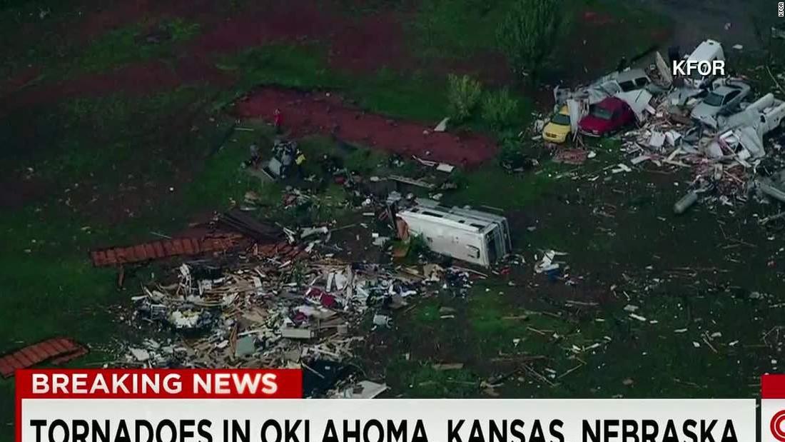 Tornadoes reported in Kansas, Oklahoma and Nebraska - CNN Video