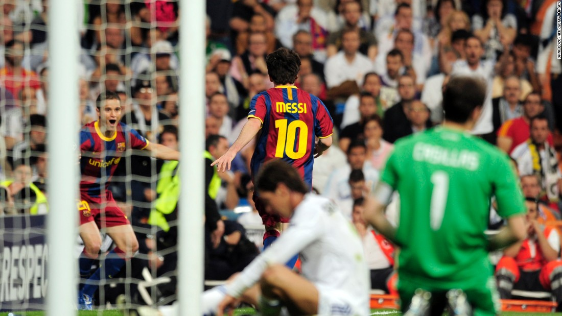 Real Madrid felt the full force of Messi in the 2011 semifinal as Barcelona cruised to a 2-0 first leg win at the Bernebau courtesy of the little magician. His second goal left the home fans in stunned silence as he ran fully 30 yards, waltzing past all in his path before firing the ball into the far corner. Barca went on to win the competition that year.