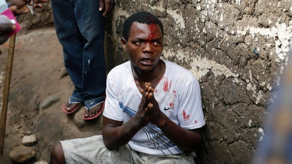 Niyonzima pleads for his life as he is surrounded at his house by demonstrators. At least one protester has died in clashes with the widely feared Imbonerakure militias and police, sending scores into the streets seeking revenge. The Imbonerakure is the youth wing of the ruling party. It is said by opponents to be armed and brutal as it works to help President Pierre Nkurunziza win a third term.