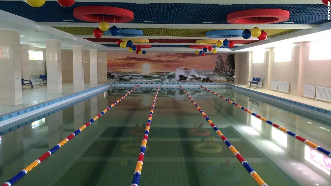 This swimming pool of an elite Pyongyang elementary school is used by the children of scientists. Scientists are given special privileges as they are tasked with innovating and modernizing the country.