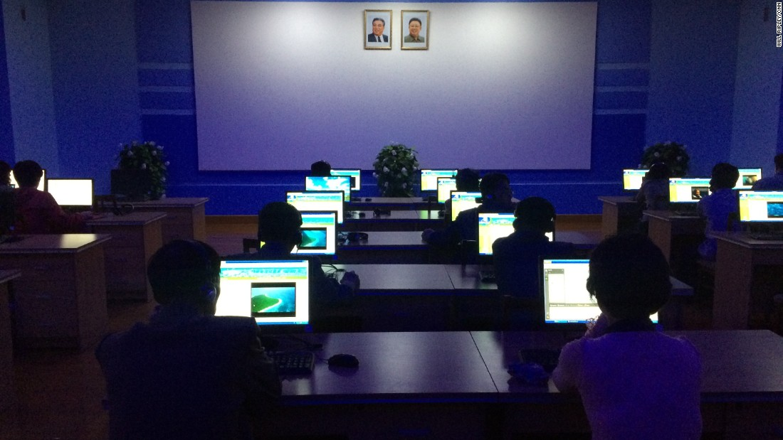 Many North Korean classrooms have computers but most citizens have no access to the Internet and have never heard of social networking sites like Facebook.