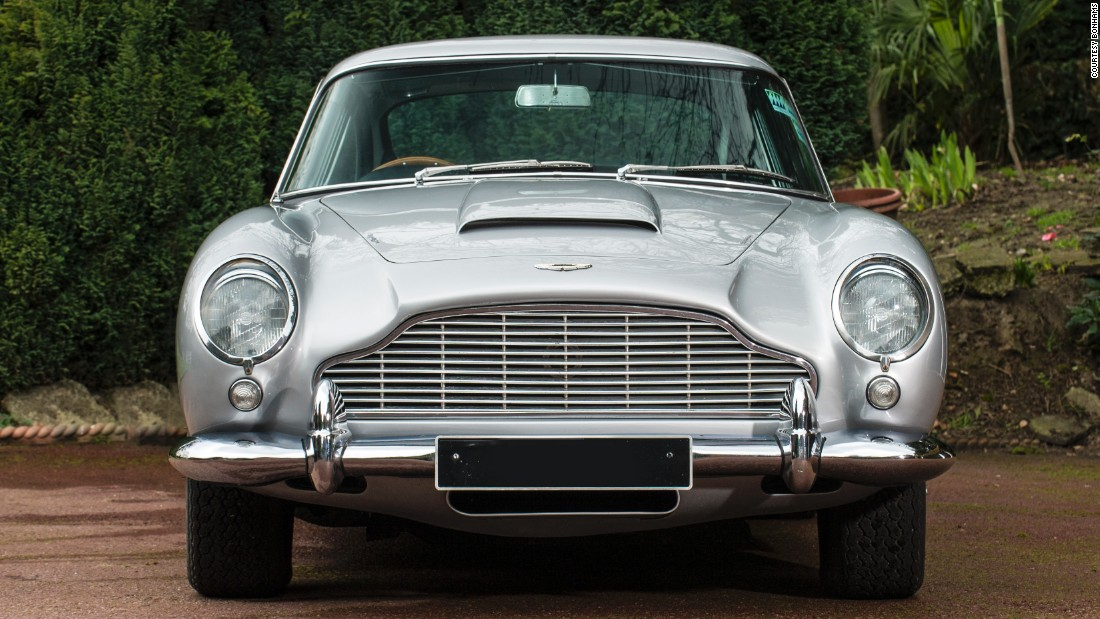 The first film in which James Bond drove an Aston Martin DB5 was <em>Goldfinger</em>, in 1964. That one had rocket launchers. This one does not.