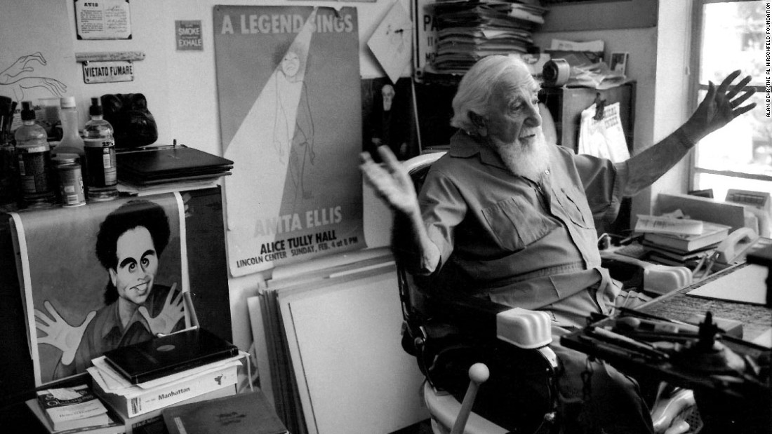Famous Line Artists Names : Al hirschfeld celebrating the reign of line king cnn