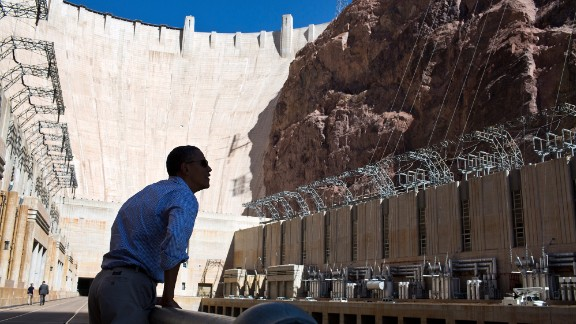 Viewing the Hoover Dam in Nevada on October 2, 2012.