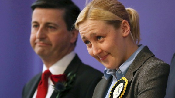 Paisley and Renfrewshire South constituency winner Mhairi Black of the Scottish National Party and the Labour Party
