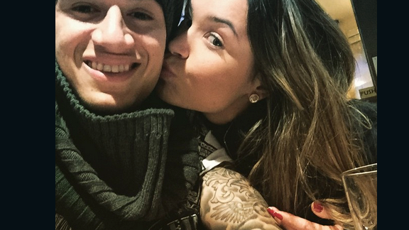 Coutinho with his wife Aine