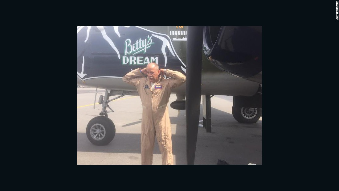 Alan Miller, a Delta pilot, is the pilot on Betty's Dream, a B-25 WWII bomber.