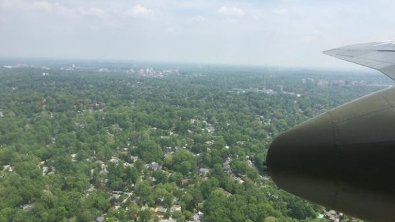 Above Virginia, close to Washington.