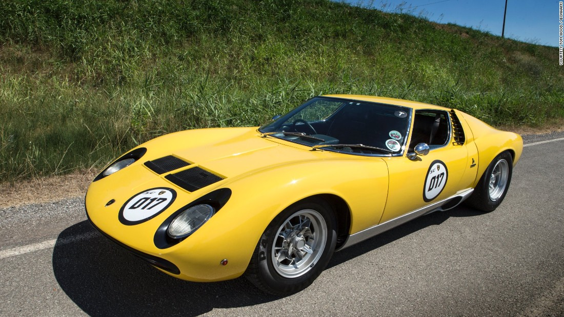 The world's first supercar and Lamborghini's most enduring model, this 1972 Lamborghini Miura SV Coupe was ordered new by musician Rod Stewart.