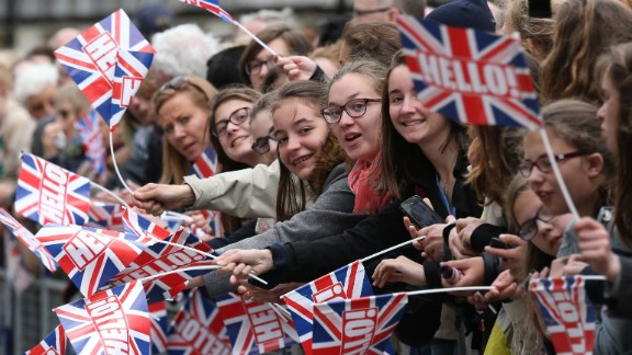 Spectators in London gather during the tribute at the Cenotaph.