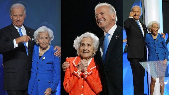 "Vice President Joe Biden's mother, Jean Biden, passed away at 92 on January 8, 2010. In his 2008 acceptance speech as Obama's running mate, Biden said ""My mother's creed is the American creed: No one is better than you. You are everyone's equal, and everyone is equal to you."""