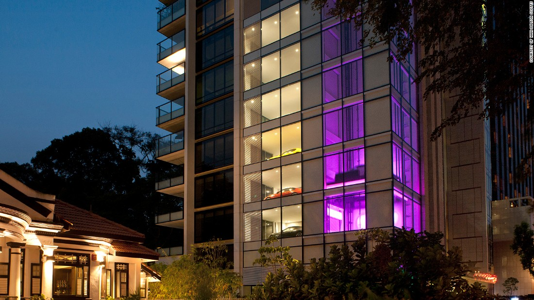 At Hamilton Scotts apartment block, residents can drive their cars into an elevator and straight out into their condo.