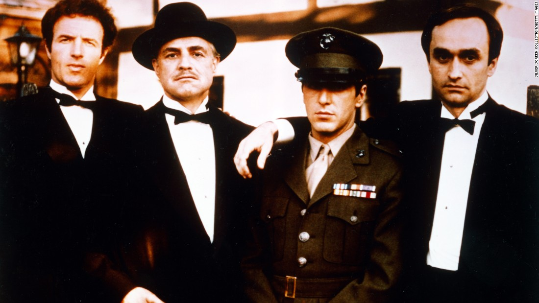"""The Godfather,"" directed by Francis Ford Coppola, took home several Academy Awards in March 1973, including Best Picture and Best Adapted Screenplay. The film was based on the best-selling novel by Mario Puzo and starred, from left, James Caan, Marlon Brando, Al Pacino and John Cazale. Brando won the Oscar for Best Actor."