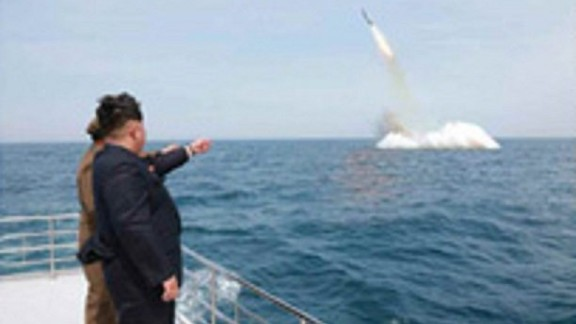 "On May 9, 2015, North Korea state media reports the country has successfully fired a ""cutting-edge"" anti-ship missile from a submarine."