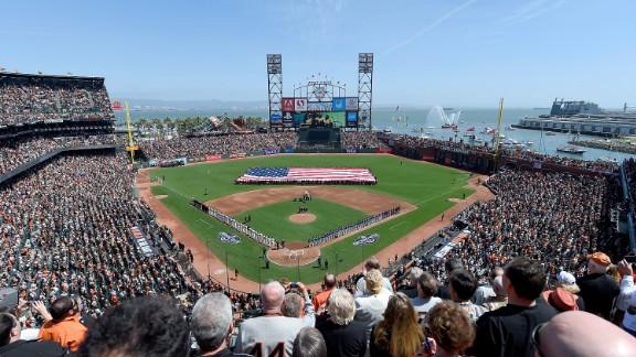 AT&T Park in San Francisco is home to the Giants.