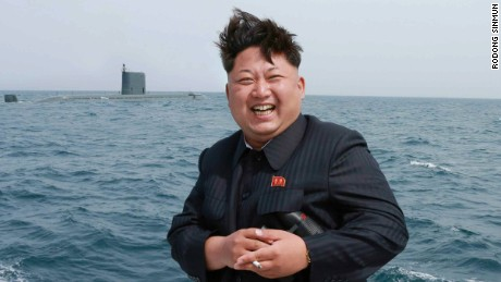 Kim Jong Un is pictured after what North Korea said was the test firing of a ballistic missile Saturday.
