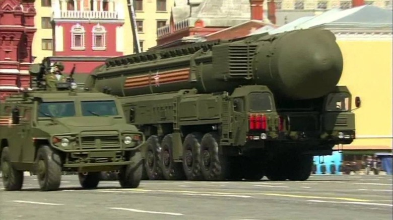 Scenes from Russia's biggest military parade ever