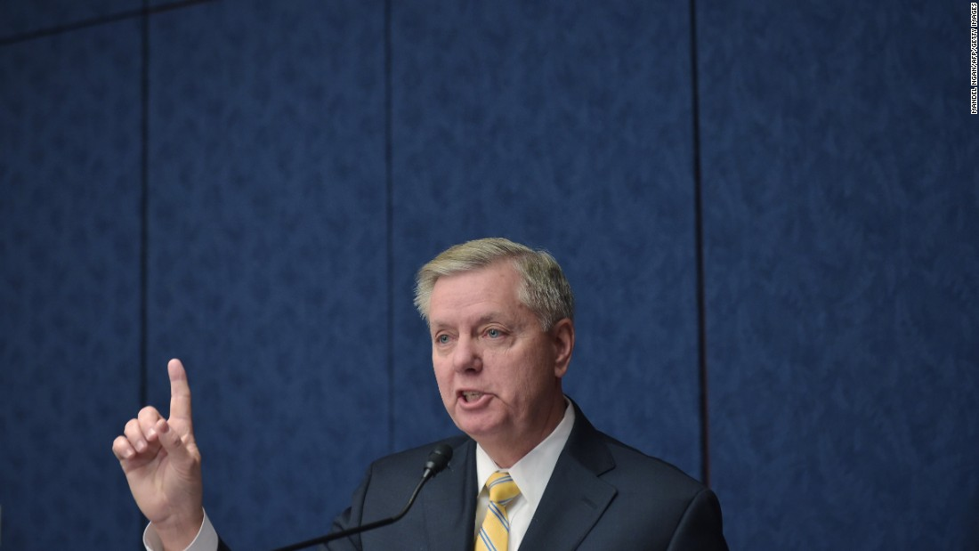 Click through to see highlights from U.S. Sen. Lindsey Graham's political career: