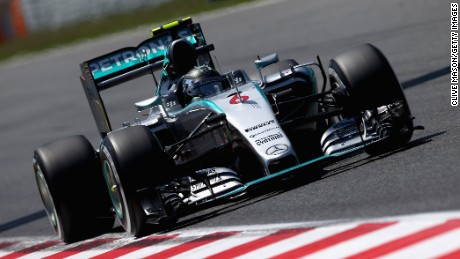 Nico Rosberg headed the timesheets during Saturday's qualifying for the Spanish Grand Prix.