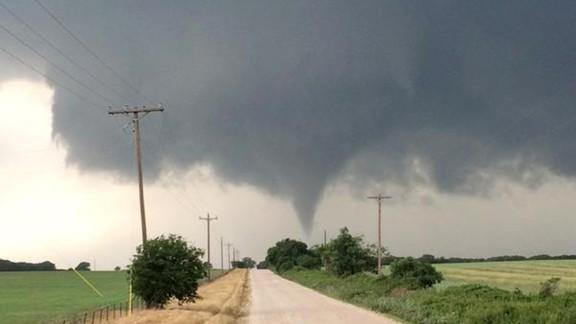 A tornado moves near Cisto, Texas, on Saturday afternoon, May 9.