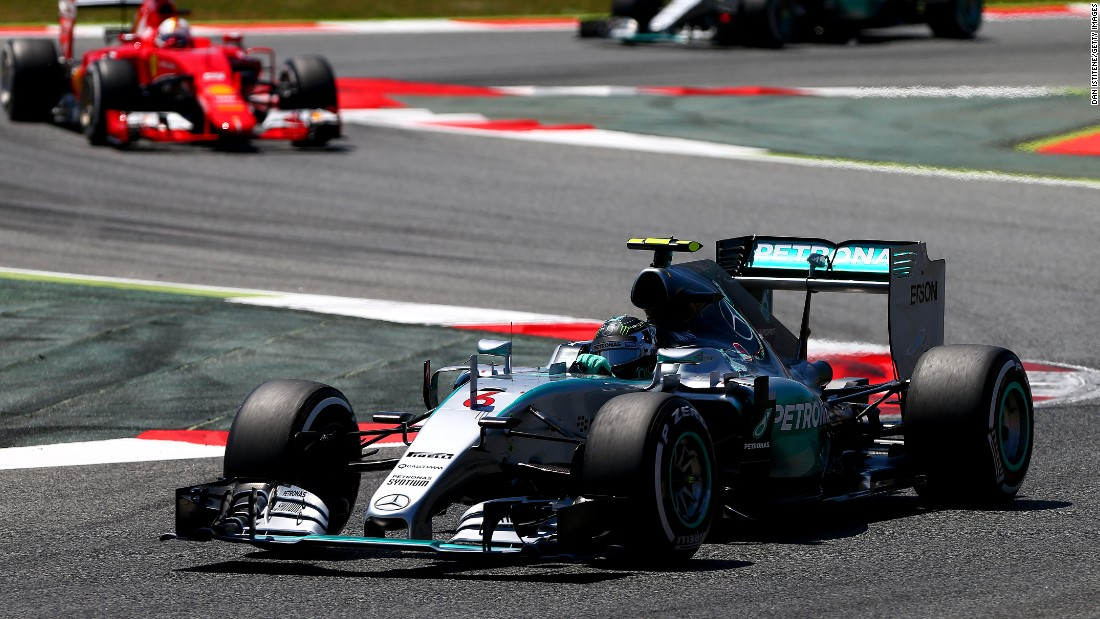 "Rosberg kickstarted his title bid by winning his first race of 2015 at Barcelona, <a href=""/2015/05/10/motorsport/formula-one-rosberg-hamilton-vettel/index.html"" target=""_blank"">comfortably beating second-placed Mercedes teammate Lewis Hamilton on May 10.</a>"