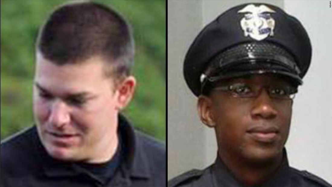 "Hattiesburg, Mississippi, police officers Benjamin Deen, left, and Liquori Tate <a href=""http://www.cnn.com/2015/05/10/us/mississippi-police-officers-shot-dead/index.html"" target=""_blank"">were shot while conducting a traffic stop</a> on May 9. They were taken to a hospital but did not survive their injuries. The shooting marked the first time in 30 years that an officer was killed in the line of duty in Hattiesburg, according to the mayor. Deen was 34. Tate was 24."