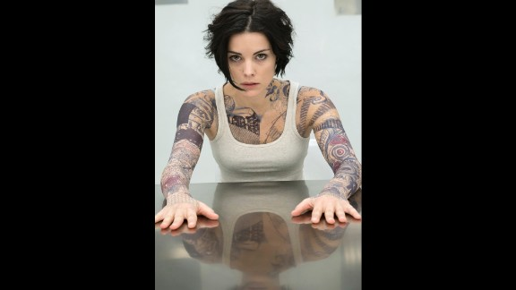 "Jaimie Alexander is the completely unknown, tattooed Jane Doe on NBC's mystery series ""Blindspot."""