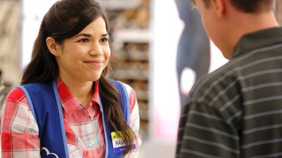 "America Ferrera returns to television in the new sitcom ""Superstore"" on NBC."